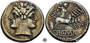 Quadrigatus circa 225 - 212 BC.