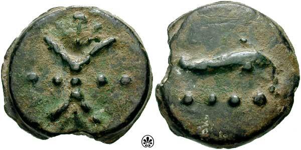 AES Triens, circa 241-235 BC